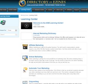 Directory of Ezines review - Members area